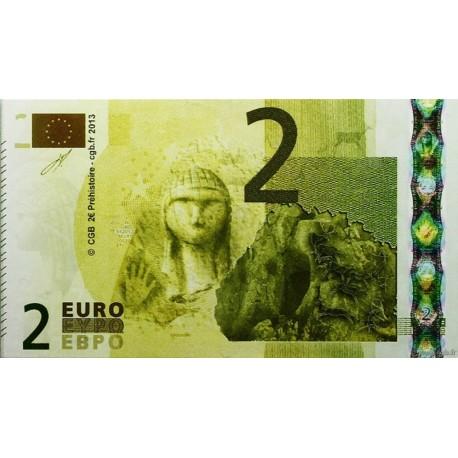 Billet fantaisie - 2 euro - Préhistoire - 2013