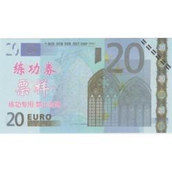 Billet fantaisie - 20 euro - chinois