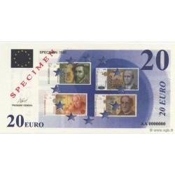 Billet fantaisie - 20 euro - Spécimen - 1998
