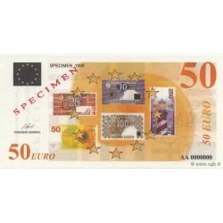 Billet fantaisie - 50 euro - Spécimen - 1998
