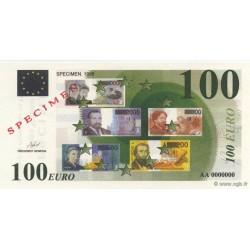 Billet fantaisie - 100 euro - Spécimen - 1998