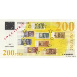 Billet fantaisie - 200 euro - Spécimen - 1998