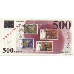 Billet fantaisie - 500 euro - Spécimen - 1998