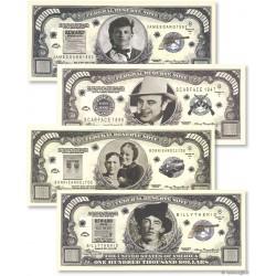 Lot de 4 billet fantaisie - Etats unis d'Amérique - 2002