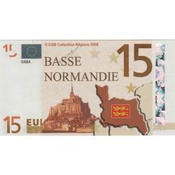 Billet Souvenir - 15 euro - Basse Normandie - 2008