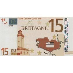 Billet Souvenir - 15 euro - Bretagne - 2008