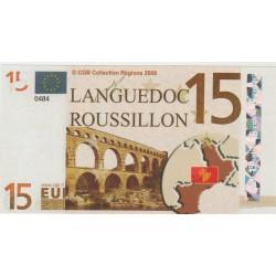 Billet Souvenir - 15 euro - Languedoc Roussillon - 2008