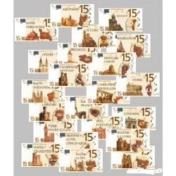 Billet Souvenir - 15 euro - Série complète - 2008