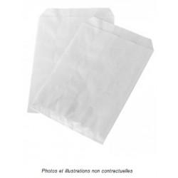 100 Sachets billets, photos ou cartes postales en papier kraft blanc