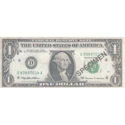 One Dollar - Spécimen