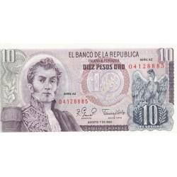 Diez Pesos Oro- Colombie
