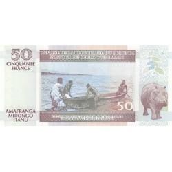 Cinquante Francs Amafranga Mirongo Itanu - Burundi