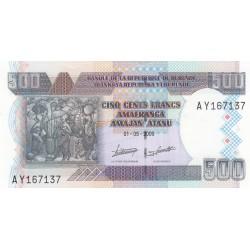 Cinq cent Francs Amafranga Amajan'Atanu
