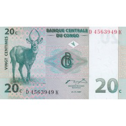 Vingt centimes - Congo