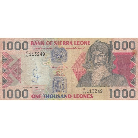 One Thousand Leones - Sierra Leone