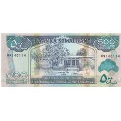 Five Hundred Somaliland Shillings / Shan Boqol Sl Shilin - Somaliland