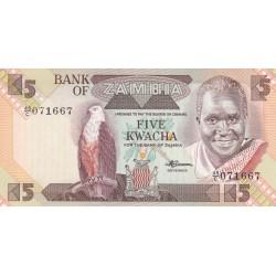 Five Kwacha - Zambie