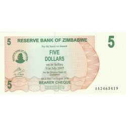 Five Dollars - Zimbabwe