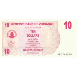 Ten Dollars - Zimbabwe