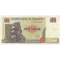 Fifty Dollars - Zimbabwe