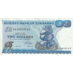 Two Dollars - Zimbabwe