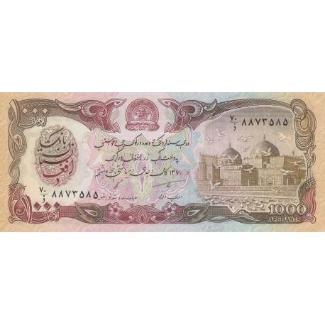 1000 Afghanis - Afghanistan