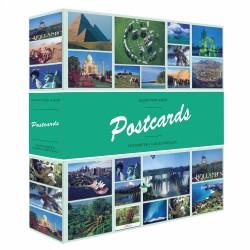 Album pour cartes postales, avec 50 feuilles reliées