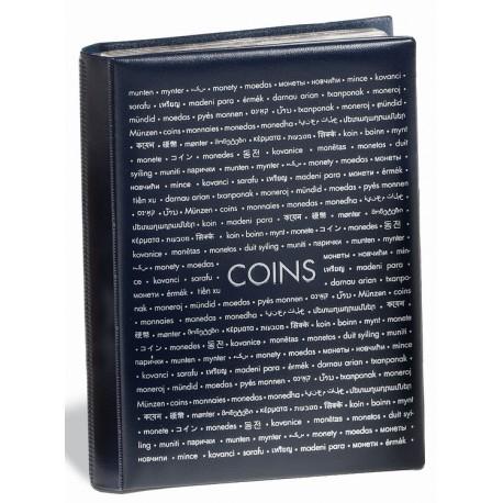 Album de poche avec 8 Feuilles Numismatiques pour chacune 12 pièces, bleu