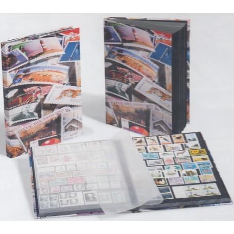 Classeur pour timbres BASIC (non ouatinée). Noir.