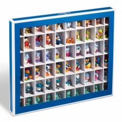 Boîte de rangement K60 avec 60 compartiments, couleur bleu