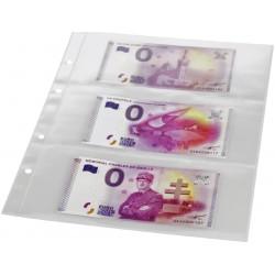 10 Feuilles 3 poches pour billets pour les albums billets souvenir SAFE