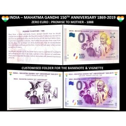 IN - India - Mahatma Gandhi 1 150th anniversary - 2019 (encart)
