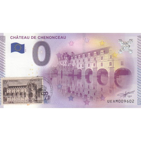 37 - Château de Chenonceau - timbré - 2015