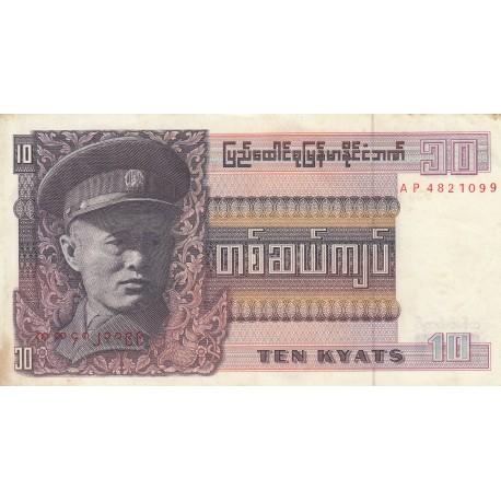 Ten Kyats - Myanmar