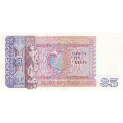Thirty Fivr Kyats - Union of Burma Bank