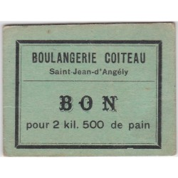 Bon d'alimentation - Boulangerie Coiteau - bon pour 2.500Kg de pain