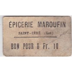 Bon d'alimentation - Bon pour 0.10 Fr - Epicerie Maroufin
