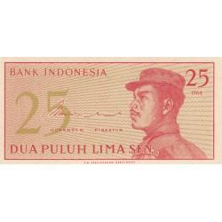 25 Sen - 1964 - Indonésie