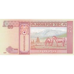 20 Tugrik - Mongolie