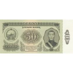 50 Tugrik - Mongolie - 1966
