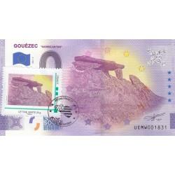 29 - Gouézec - Karreg An Tan - Timbré et tamponné - 2021
