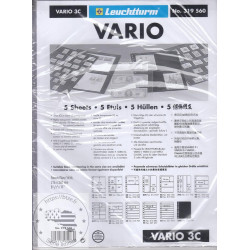 Pochettes plastiques VARIO, 3 compartiments, pellicule transparente