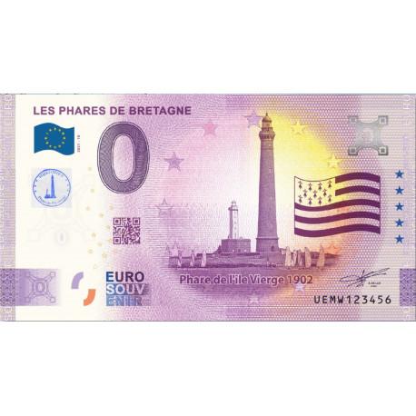 29 - Les phares de Bretagne - Phare de l'Île Vierge 1902 - 2021 tamponné