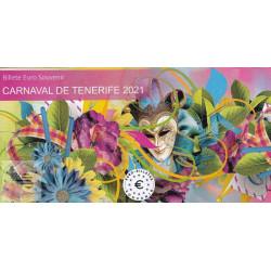 ES - Carnaval de Tenerife 2021 (Billet peint sous encart) - 2021
