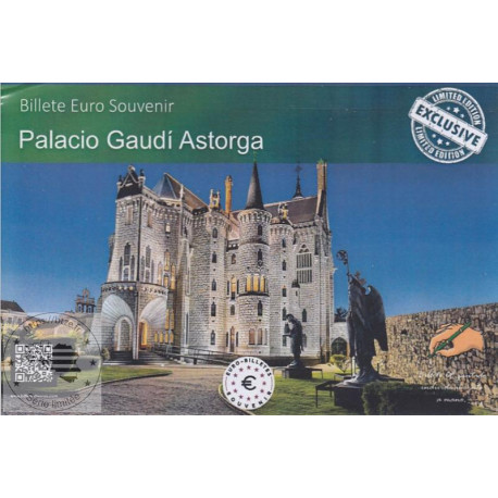 ES - Palacio Gaudi Astorga (Billet peint sous encart) - 2018
